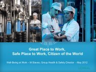 Great Place to Work, Safe Place to Work, Citizen of the World