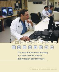 The Architecture for Privacy in a Networked Health Information ...