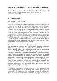approche de la prosodie du dialecte de Barcelone - Universitat de ...