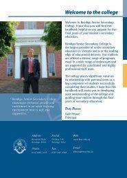 Parent Handbook - Bendigo Senior Secondary College