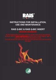 Rais Q-Bic Installation, Use and Maintenance Manual - Robeys Ltd