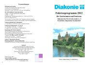 Fahrtenprogramm 2012 - Diakonie Schweinfurt