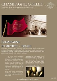 CHAMPAGNE IN MOTION - Flavours From France