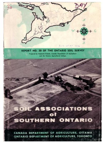REPORT NO. 30 OF THE ONTARIO SOIL SURVEY