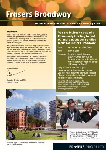 Newsletter Five February 2009 - Frasers Broadway