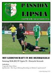 Heft 15: 18.06.2011 SV Lipsia 93 - SV Lipsia 93 Leipzig-Eutritzsch