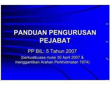 Nota Taklimat Panduan Pengurusan Pejabat