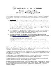 Abstract License and Publication Agreement - American Society for ...
