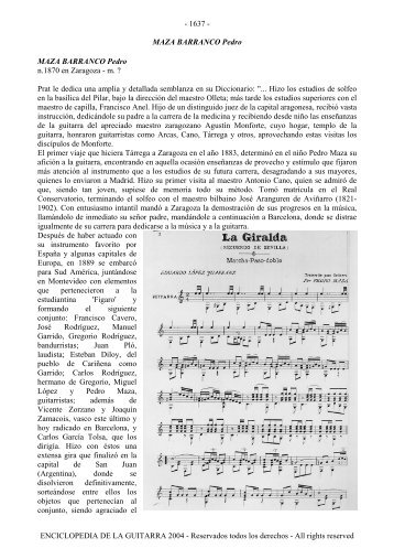 Enciclopedia de la Guitarra - letra M - Just Classical Guitar Club