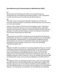 Geschäftsordnung - Zentralinstitut für Medizintechnik ZiMT FAU ...