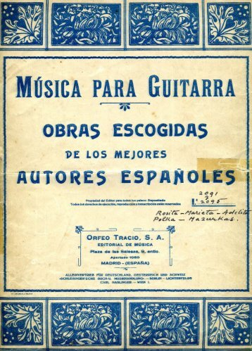 Marieta - Rosita - Adelita - Just Classical Guitar Club