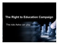 The Right to Education Campaign - Asha for Education