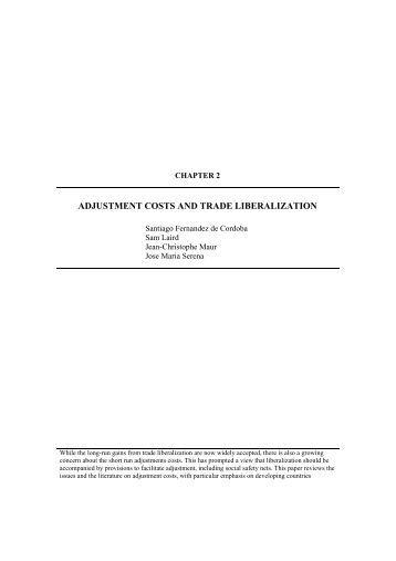 PDF Agriculture Trade Liberalization