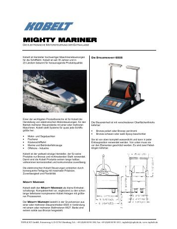 Download Kobelt Mighty Mariner technisches Datenblatt - Marx