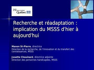 Présentation Mesdames St-Pierre et Chouinard - Repar