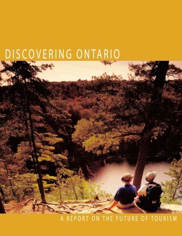 Discovering Ontario report - Ministry of Tourism