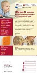 Flyer Digitale Chancen - Initiative Hören