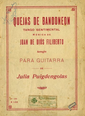 Quejas de Bandoneon - Just Classical Guitar Club