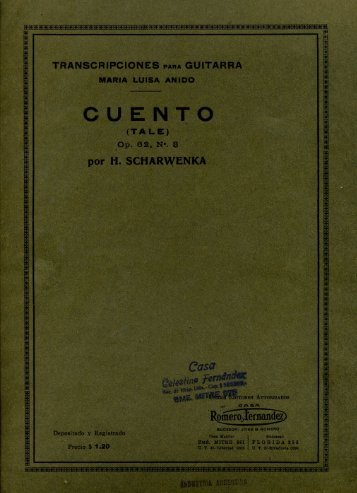 Cuento (Tale) Op.62 n.3 - Just Classical Guitar Club