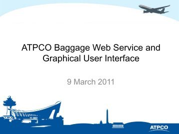 ATPCO Baggage Web Service and Graphical User Interface