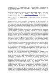 peticiones de la asociación de veterinarios ... - Cortes de Aragón