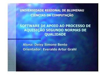 software de apoio ao processo de aquisição segundo normas de ...