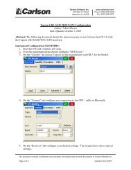 Equip - Topcon GR3 GSM FH915 Quick Start 2_0 ... - Carlson Software