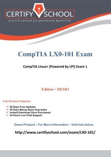 CompTIA LX0-101 CertifySchool Exam Actual Questions (PDF)