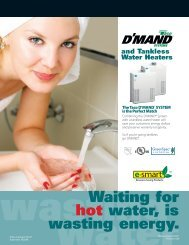 D'Mand System and Tankless Water Heaters - Taco-Hvac
