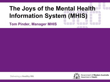 MHIS - Australian Mental Health Outcomes and Classification Network