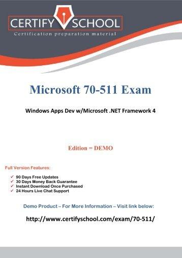 mcts exam 70-511 dumps