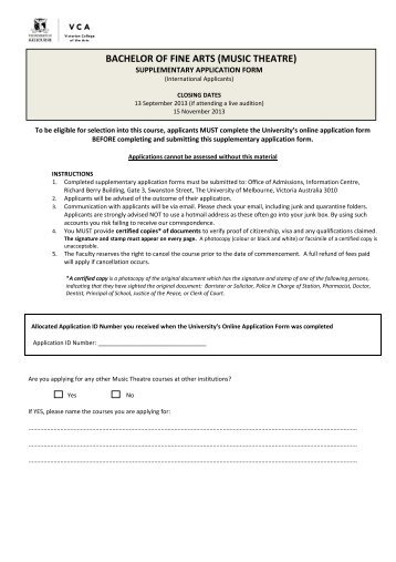 Supplementary Application Form Inz 1027
