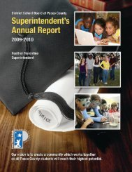 Superintendent's Annual Report for 2009-2010 - Pasco County