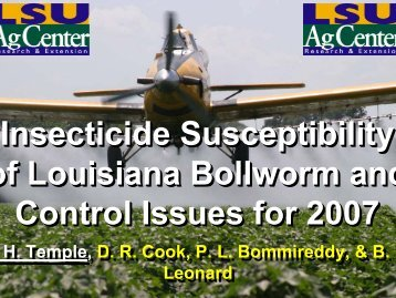 Insecticide Susceptibility of Louisiana Bollworm and Control Issues ...