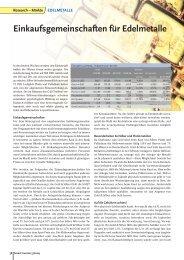 Einkaufsgemeinschaften für Edelmetalle - Einkaufsgemeinschaft für ...