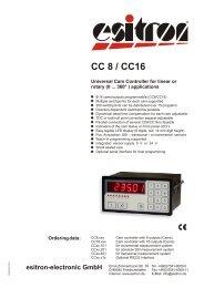 CC 8 / CC16 - esitron