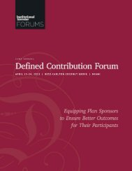 Equipping Plan Sponsors to Ensure Better Outcomes for Their ...