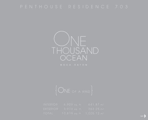 One Thousand Ocean - Penthouse 703 - Florida Luxury Estates