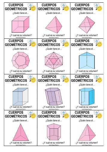 cuerpos cuerpos cuerpos geométricos geométricos ... - Actiludis