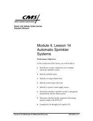Module 4, Lesson 14 Automatic Sprinkler Systems - CMS Surveyor ...