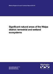 Significant natural areas of the Waipa district - Waikato Regional ...