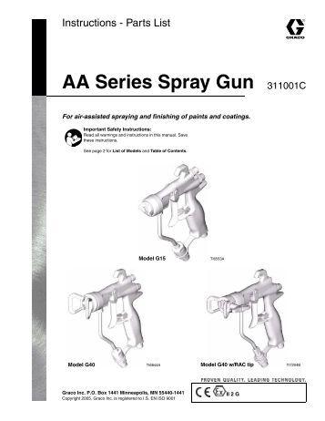 gravity feed spray gun instructions