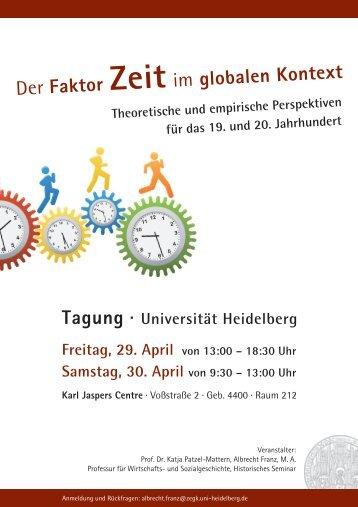 Der Faktor Zeit im globalen Kontext - Ruprecht-Karls-Universität ...