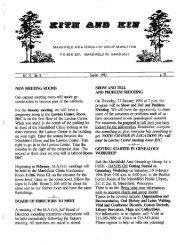 September - October 1993 - Marshfield Area Genealogy Group