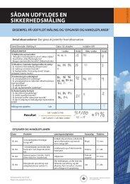 Arbejdsark: Sikkerhedsmåling - Arbejdsmedicinsk klinik