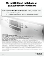 Up to $200 Mail-In Rebate on Select Bosch ... - ABC Warehouse