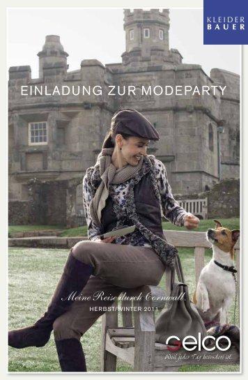 einladung zur modeparty Meine Reise durch Cornwall.
