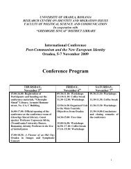 Conference Program - Research Centre on Identity and Migration ...