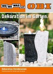 Dekoration im Garten. - Obi