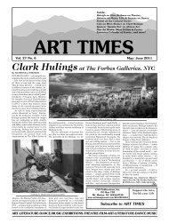 Clark Hulingsat The Forbes Galleries, NYC - Art Times